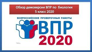 Демоверсия ВПР по биологии 5 класс 2020 с ответами