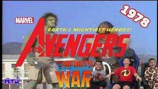 Avengers 1978 Retro Infinity War Movie Trailer REACTION video w/ Kid Gamer MinetheJ Jaden Crescendo